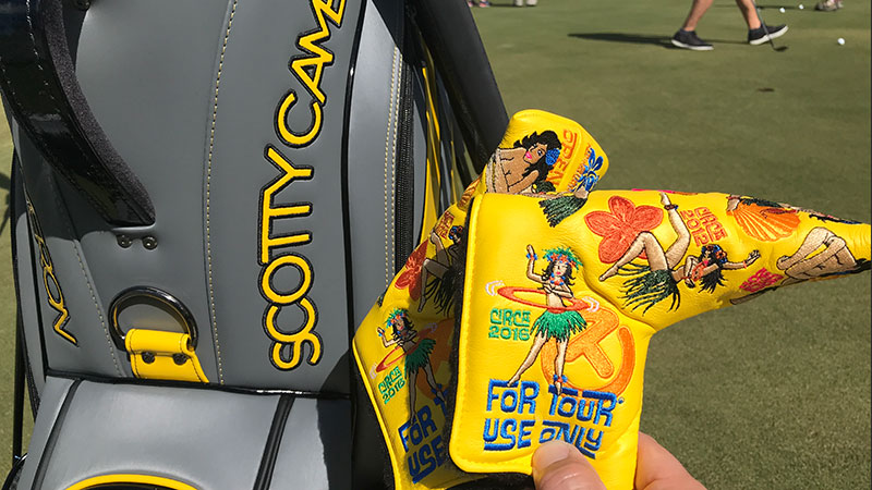 Loyal Scotty Cameron putter players at this week's Sony Open were treated to this year's Hula Girl Circle T headcover.