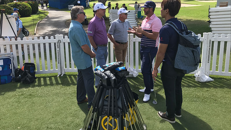 Scotty & Co. working with Scott Piercy at the Sony Open.
