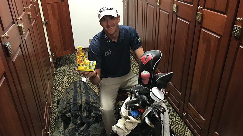 Richy Werenski with his new Circle T Hula Girl headcover.