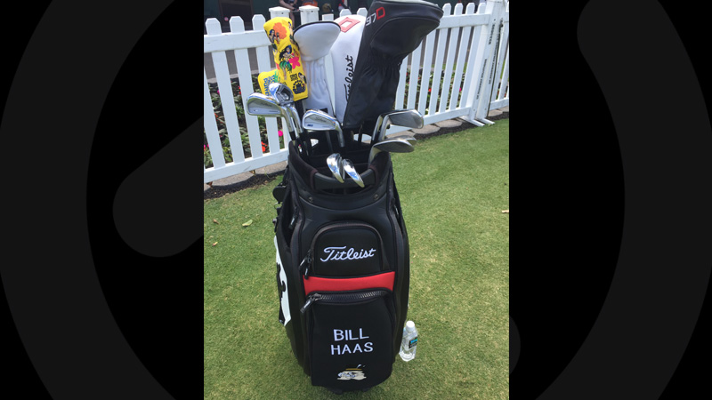 Bill Haas has a new Hula Girl headcover.