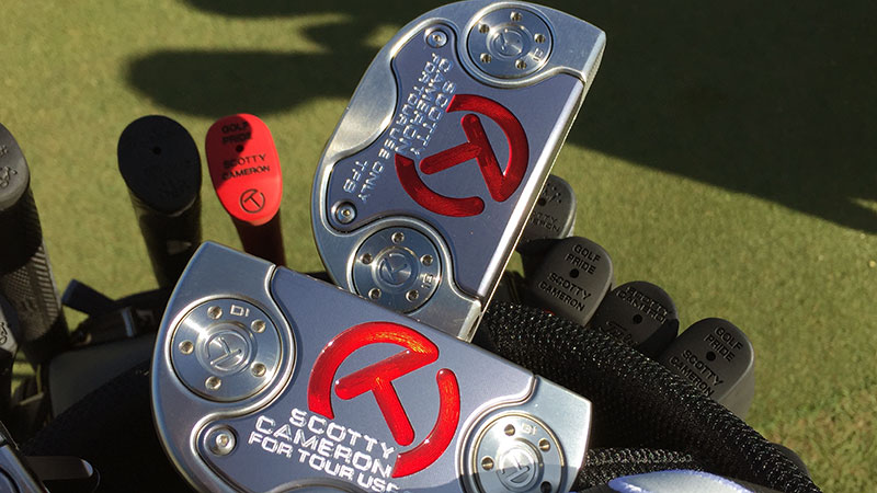 Dueling Fastback Tour putters.
