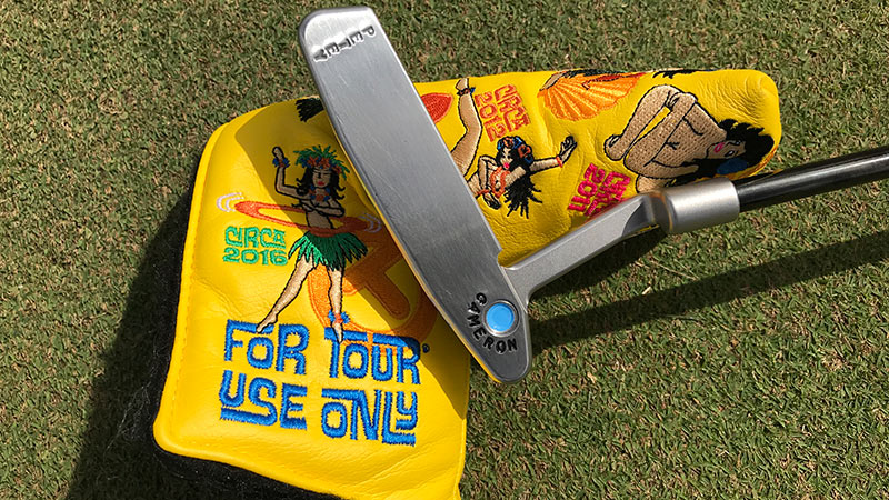 Peter Uihlein's Hula Girl headcover with his Newport 2 GSS gamer.