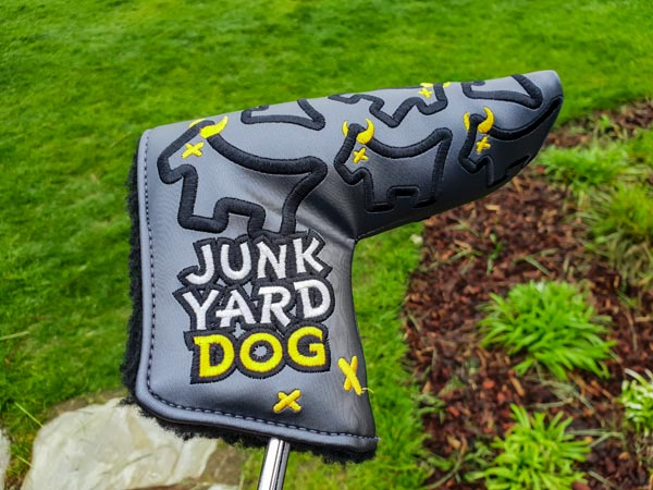 Custom Shop Junk Yard Dog headcover on Tour in Korea.