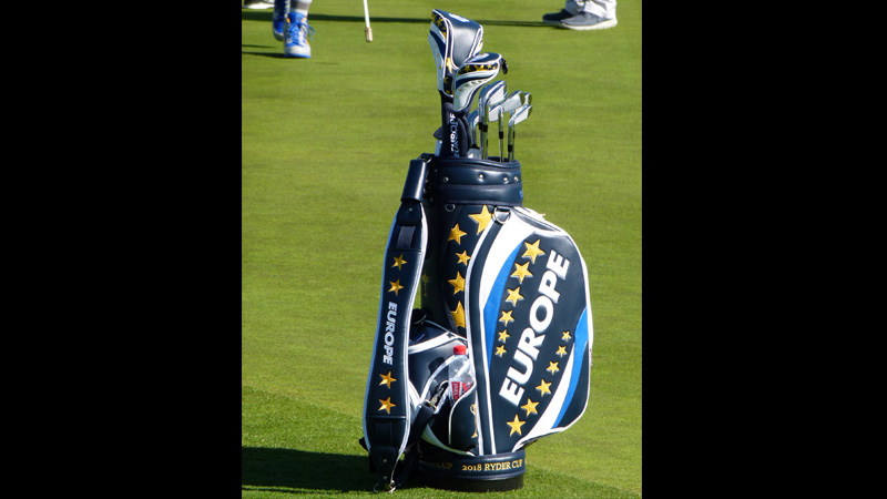 A glimpse at Team Europe's staff bag design.