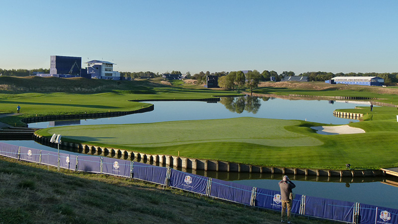 The scene at Le Golf National outside of Paris.
