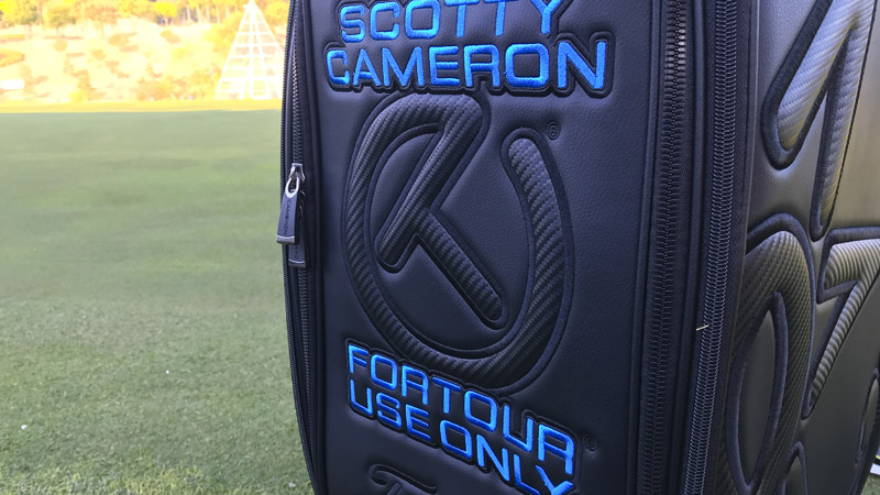 Our Scotty Cameron staff bag on the green at this week's Token Homemate Cup.