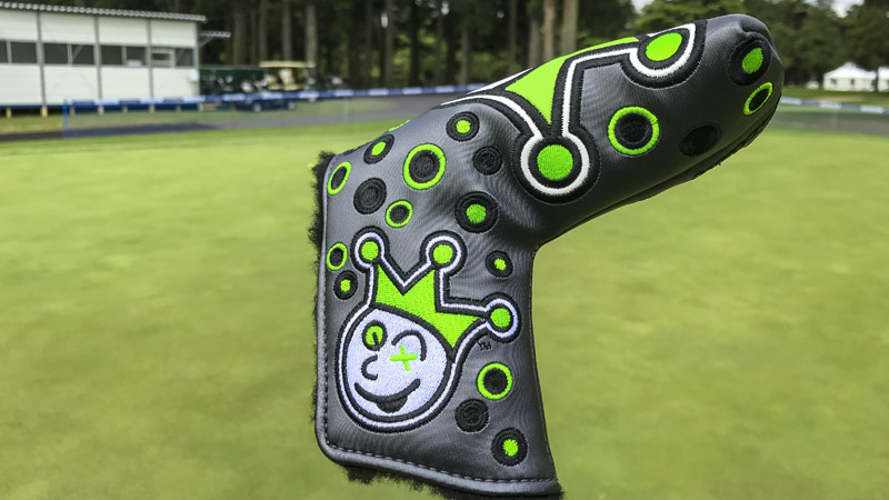 This Jackpot Johnny Charcoal-Lime headcover is available in the Scotty Cameron Custom Shop.