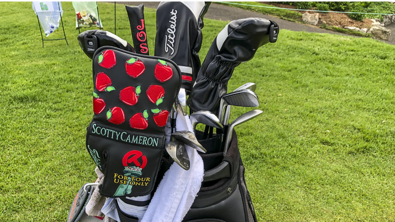 Player-issued Big Apple Circle T headcover from last month's PGA Championship.