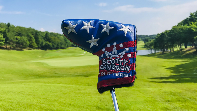 Our Custom Shop Stars & Stripes mid-mallet headcover in Japan.