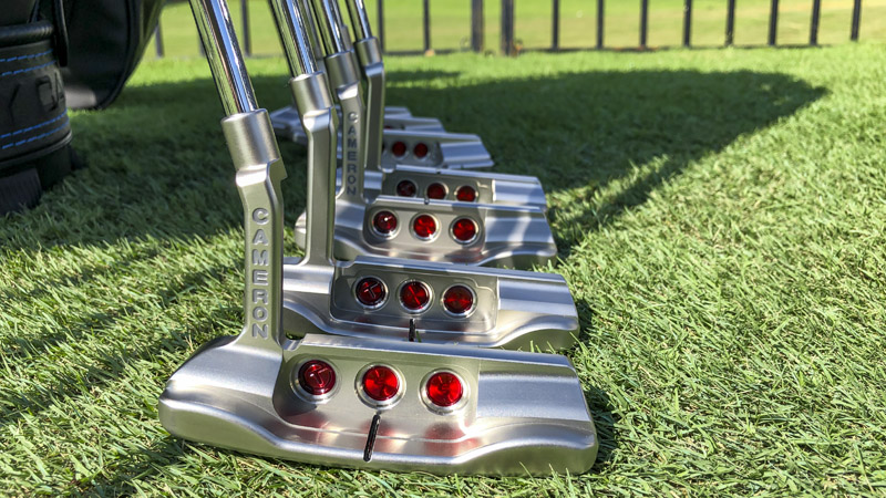 Our lineup of Select Tour putters.
