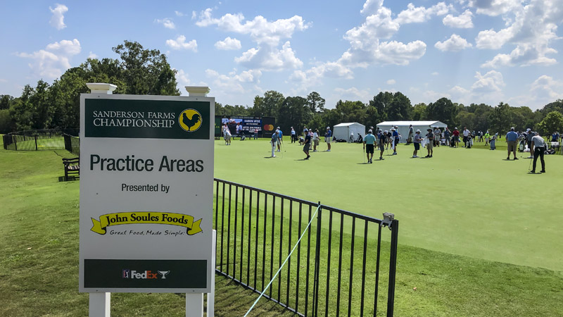 Practice green at Sanderson Farms Championship.