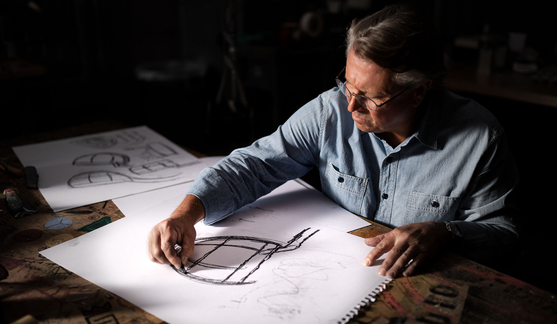 Image of Scotty Cameron sketching