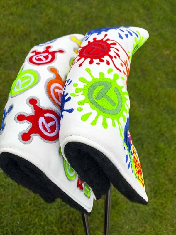 Similar, yet different. Dancing Circle T headcovers.