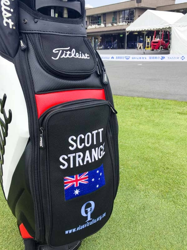 The staff bag of Perth, Australia's Scott Strange.