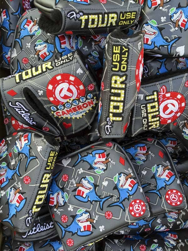 Scotty's new Las Vegas Card Shark Circle T headcovers were given to loyal putter players at the event.