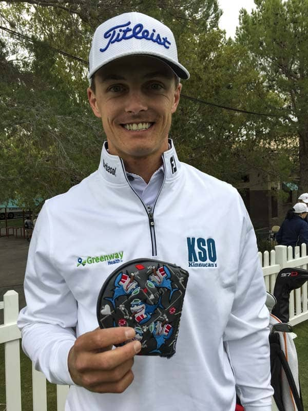 Titleist Brand Ambassador Blayne Barber with his new Card Shark.