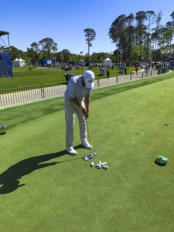 Titleist FPL player Derek Fathauer put a Futura 6M into play in Houston and brought it to the RBC Heritage.